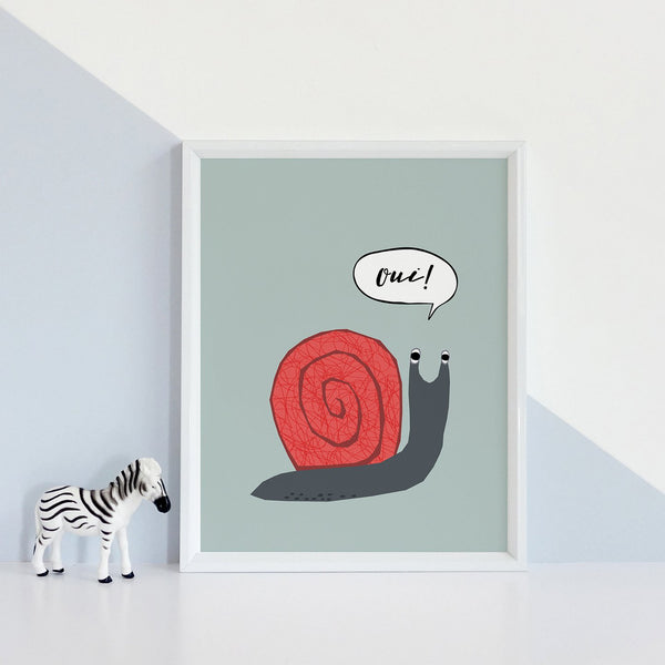 French Snail Print