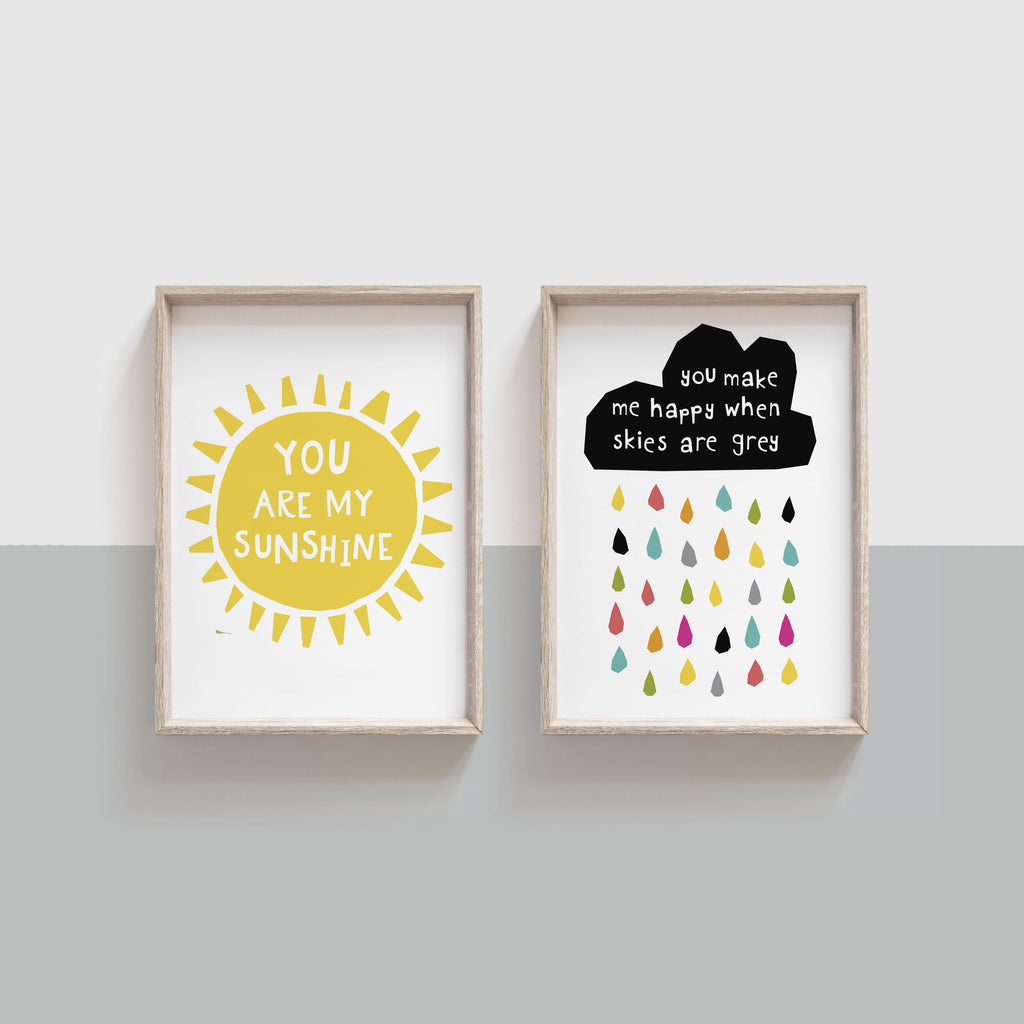 You Are My Sunshine - Set of Two Prints