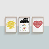 You Are My Sunshine - Set of Three Prints
