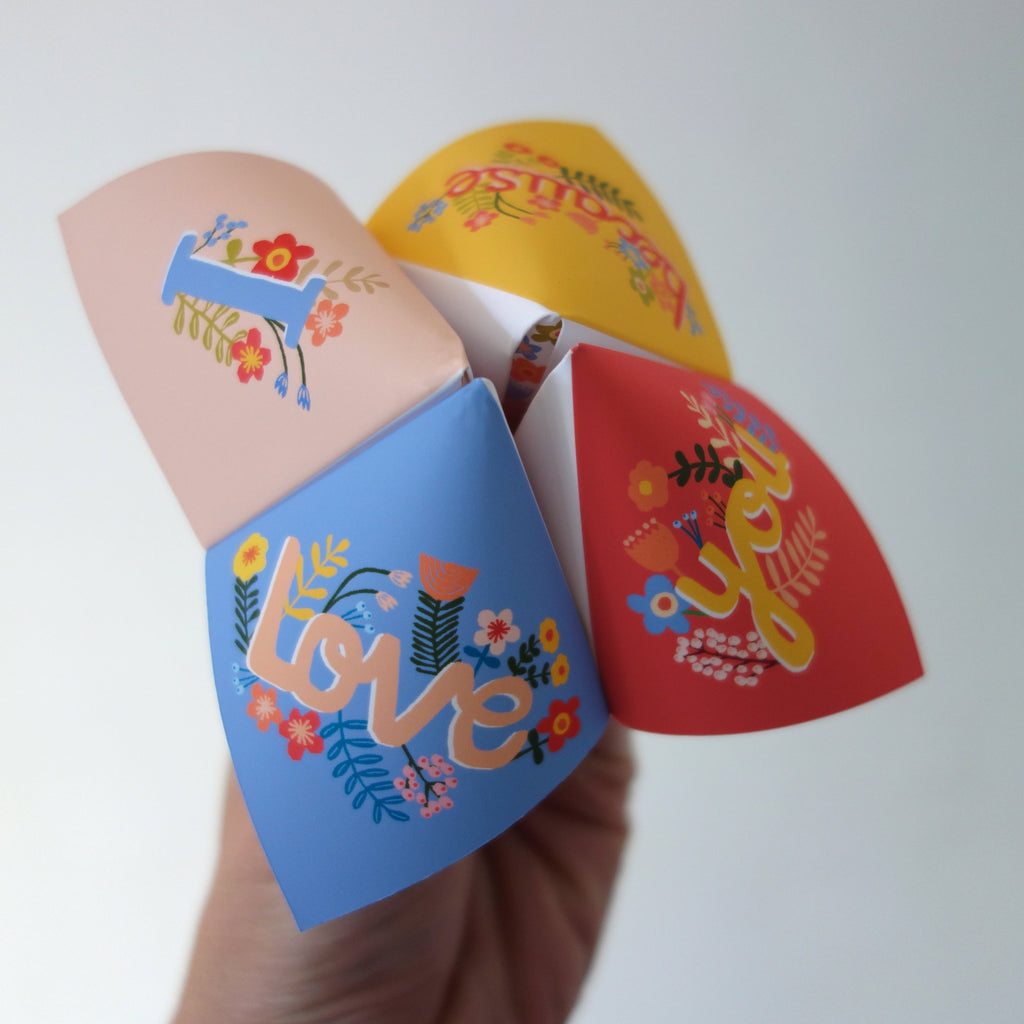 I love you because, personalised fortune teller