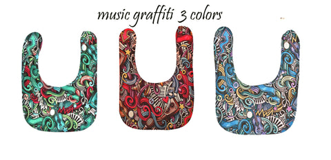 Baby bib music graffiti