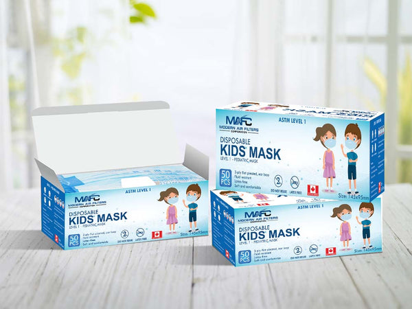 Kids Face Mask - 50 pcs box  - Made in Canada