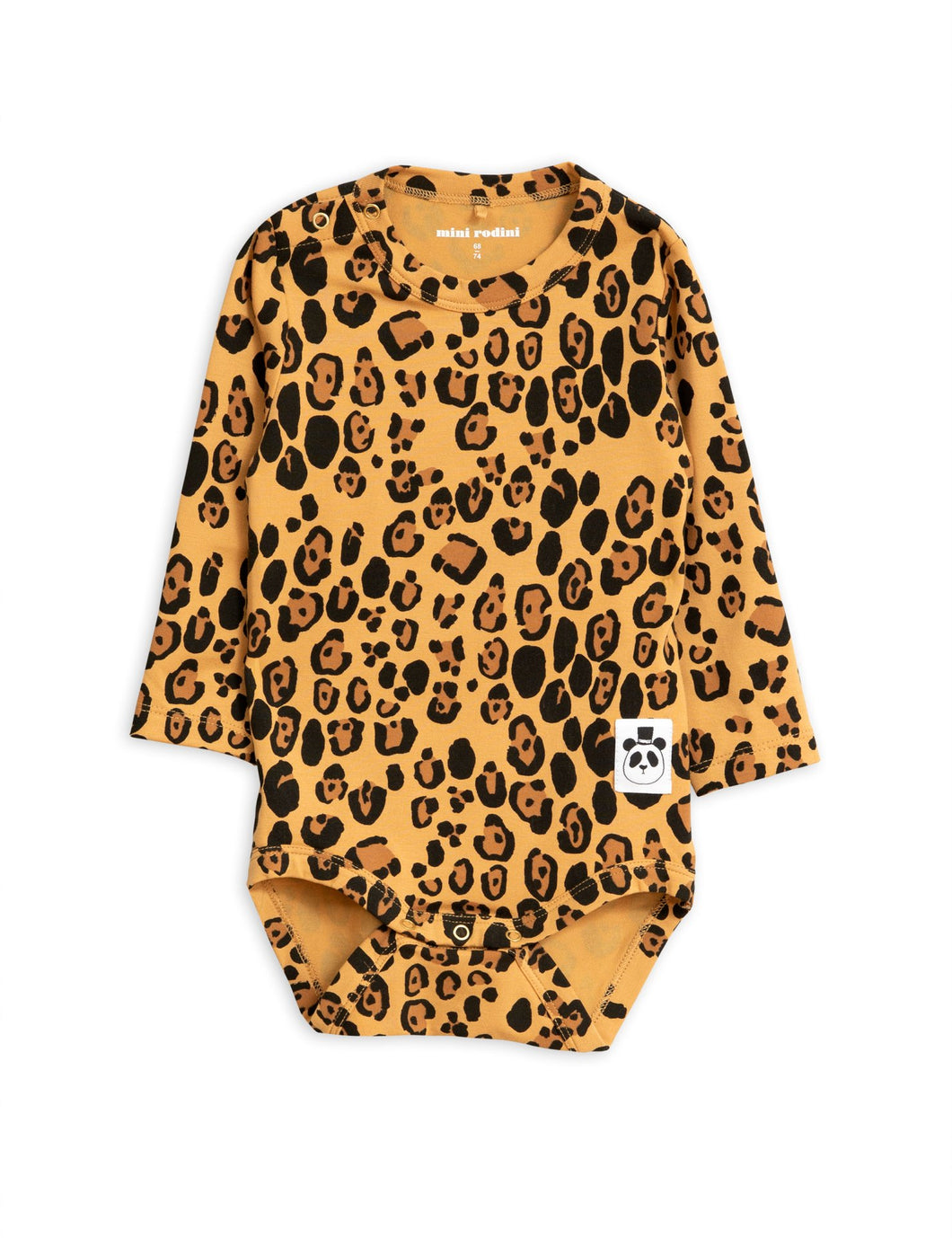 Mini Rodini Basic Leopard Tencel Longsleeve Body