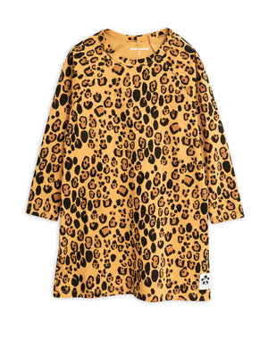 Mini Rodini Basic Leopard Tencel Longsleeve Dress