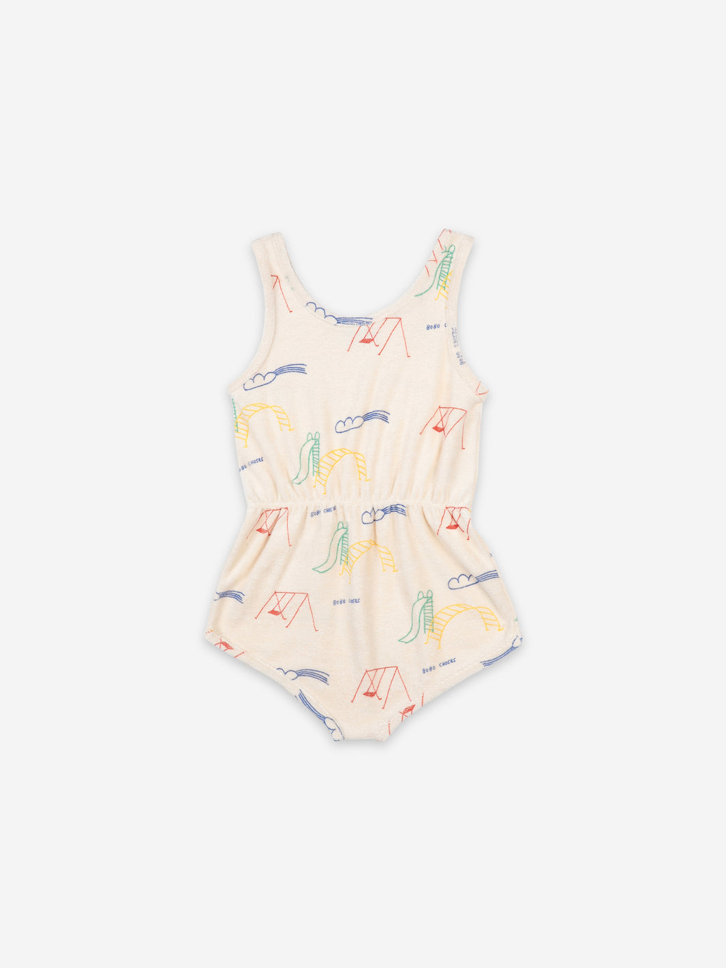 Bobo Choses Playground All Over Terry Fleece Playsuit