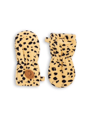 Mini Rodini Fleece Baby Mittens Spot
