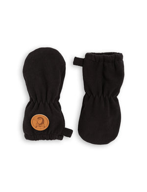 Mini Rodini Fleece Baby Mittens Black