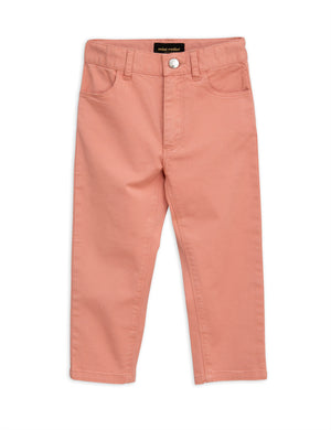 Mini Rodini Cat Campus Twill Trousers Pink