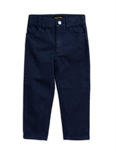 Mini Rodini Cat Campus Twill Trousers Navy