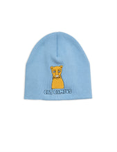 Mini Rodini Cat Campus Beanie Light Blue