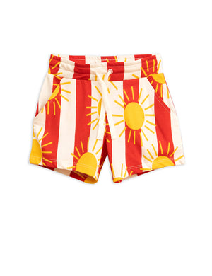 Mini Rodini Sun Stripe Shorts Red