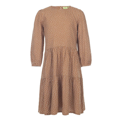 Kiddow Longsleeve Dress, Caramel