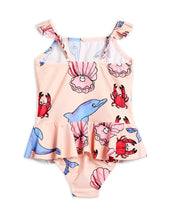 Mini Rodini Dolphins Skirt Swimsuit