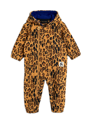 Mini Rodini Fleece Onesie Leopard