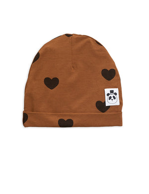 Mini Rodini Heart Beanie Brown