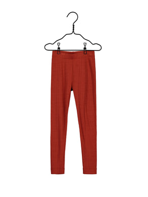 Mainio Merino wool leggings, paprika