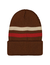 Mainio Beanie with Stripes, Brown