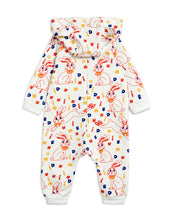 Mini Rodini MR rabbit aop bunny onesie