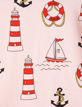 Mini Rodini Lighthouse Shortsleeve Tee Pink