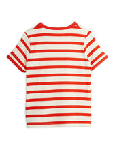 Mini Rodini Stripe Shortsleeve Tee Red