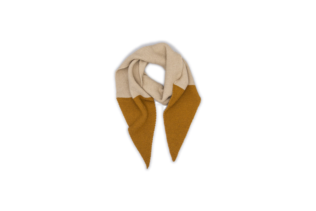 Monkind Gold Block Knitted Scarf