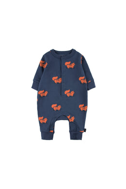Tinycottons FOXES One-piece Light navy/sienna