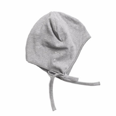 Gray Label Baby Hat with Strings Grey Melange