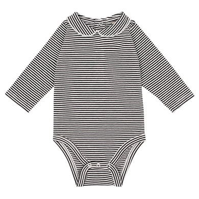Gray Label Baby Onesie with Collar Stripe
