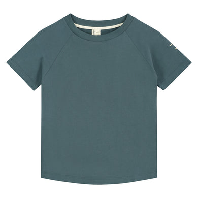 Gray Label Crewneck Tee Blue Grey