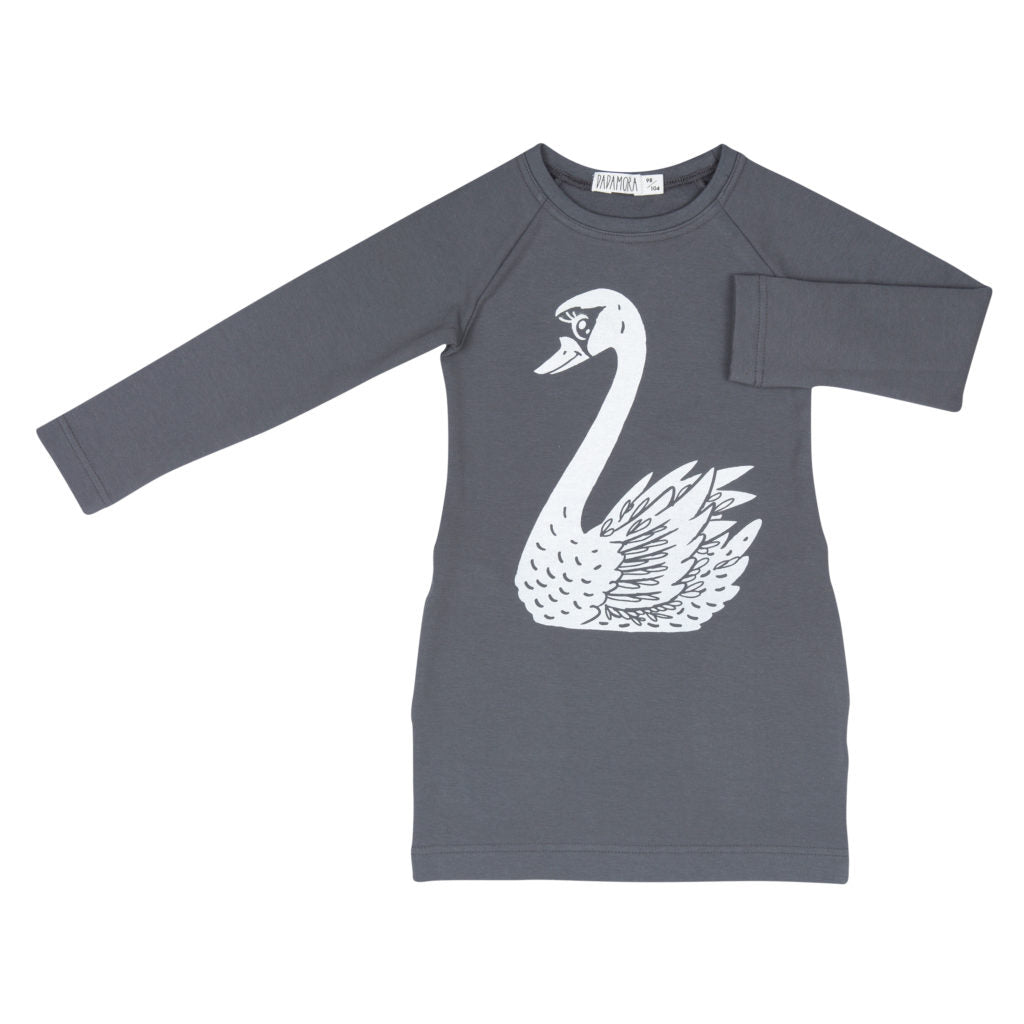 Dadamora Pullover Dress Swan Dark Grey