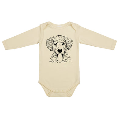 Dadamora Bodysuit with Dog Light Yellow