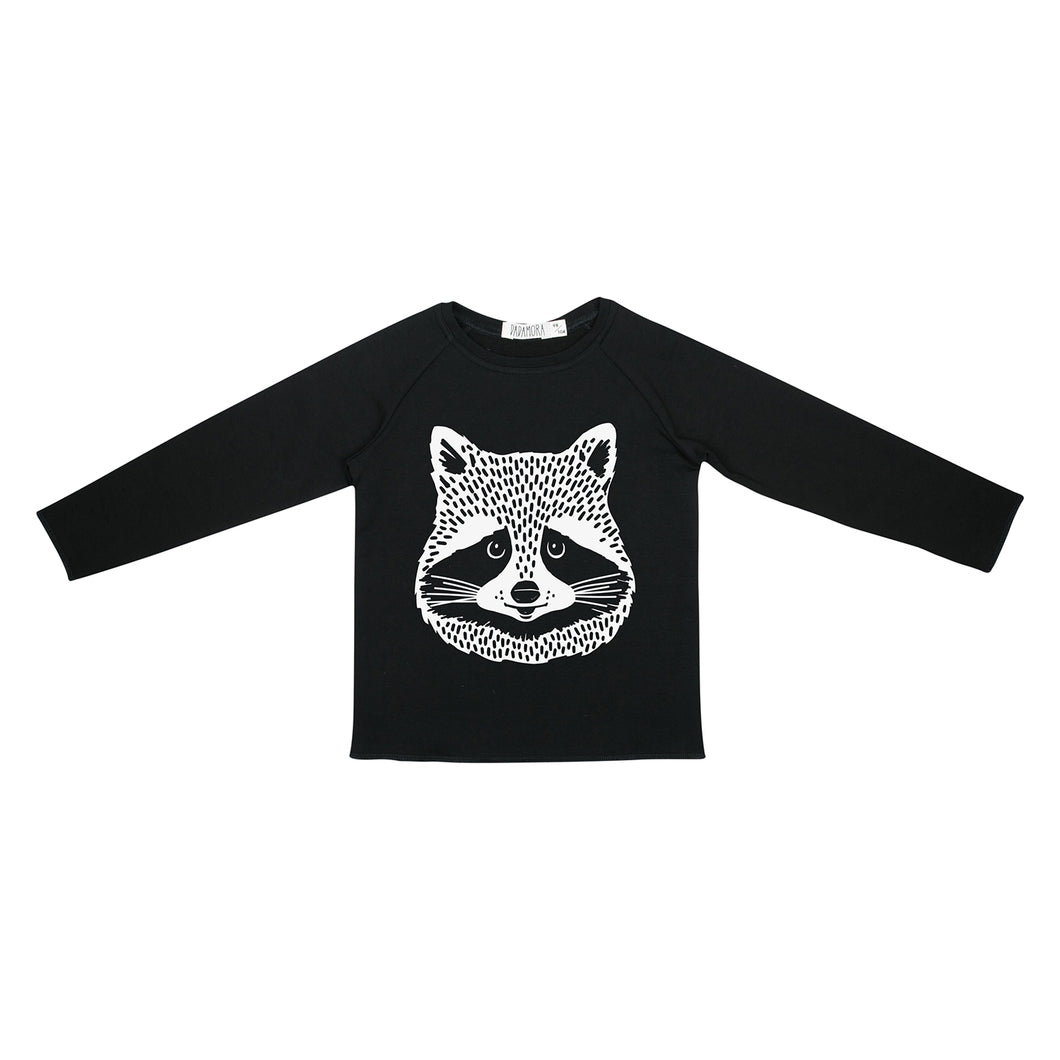 Dadamora Hipster Pullover with Raccoon