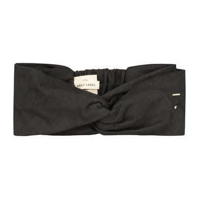 Gray Label Twist Headband Nearly Black