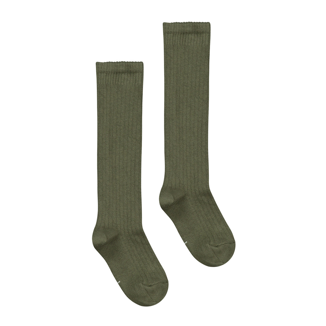 Gray Label Long Ribbed Socks Moss
