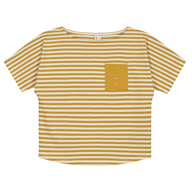 Gray Label Pocket Tee Mustard/Offwhite Stripes