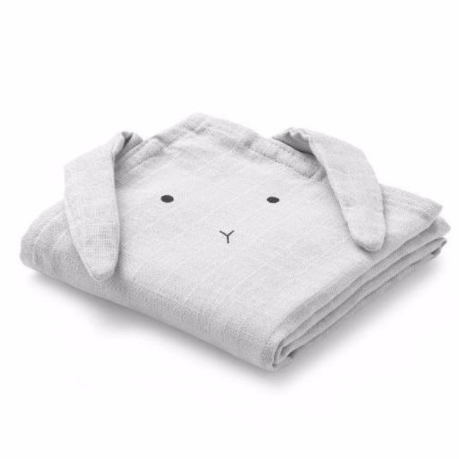 Liewood Muslin Cloth Rabbit 2-pack