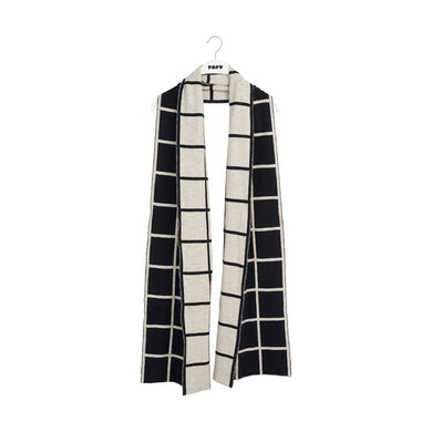 Papu Women Knit Scarf Giant Grid