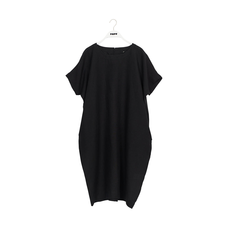 Papu Linen Dress Black Adults