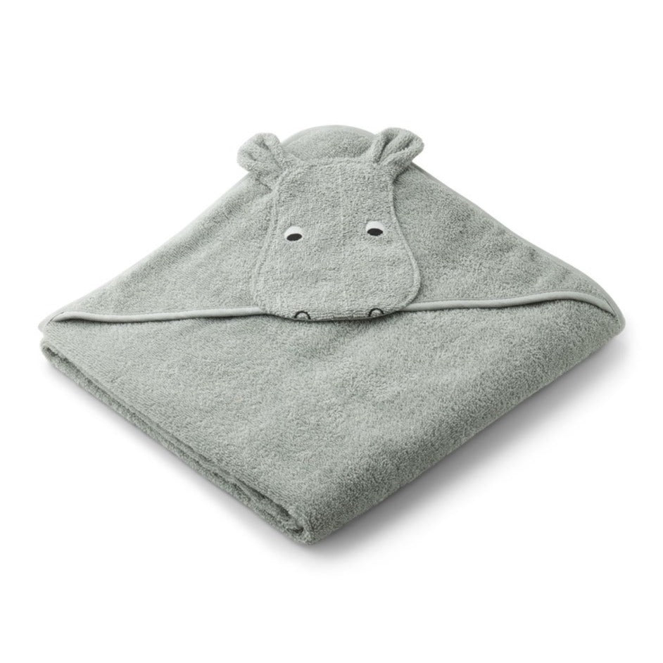 Liewood Augusta Towel Hippo Dove blue
