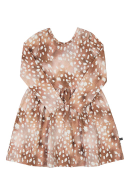 Kaiko Bambi Dress Longsleeve, Copper Bambi