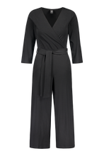 Kaiko Women Belted Jumpsuit Longsleeve, Black