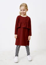 Papu Wave Dress Deep red