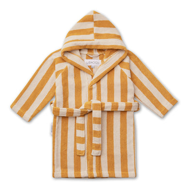 Liewood Reggie Bathrobe Stripe Yellow mellow/Sandy