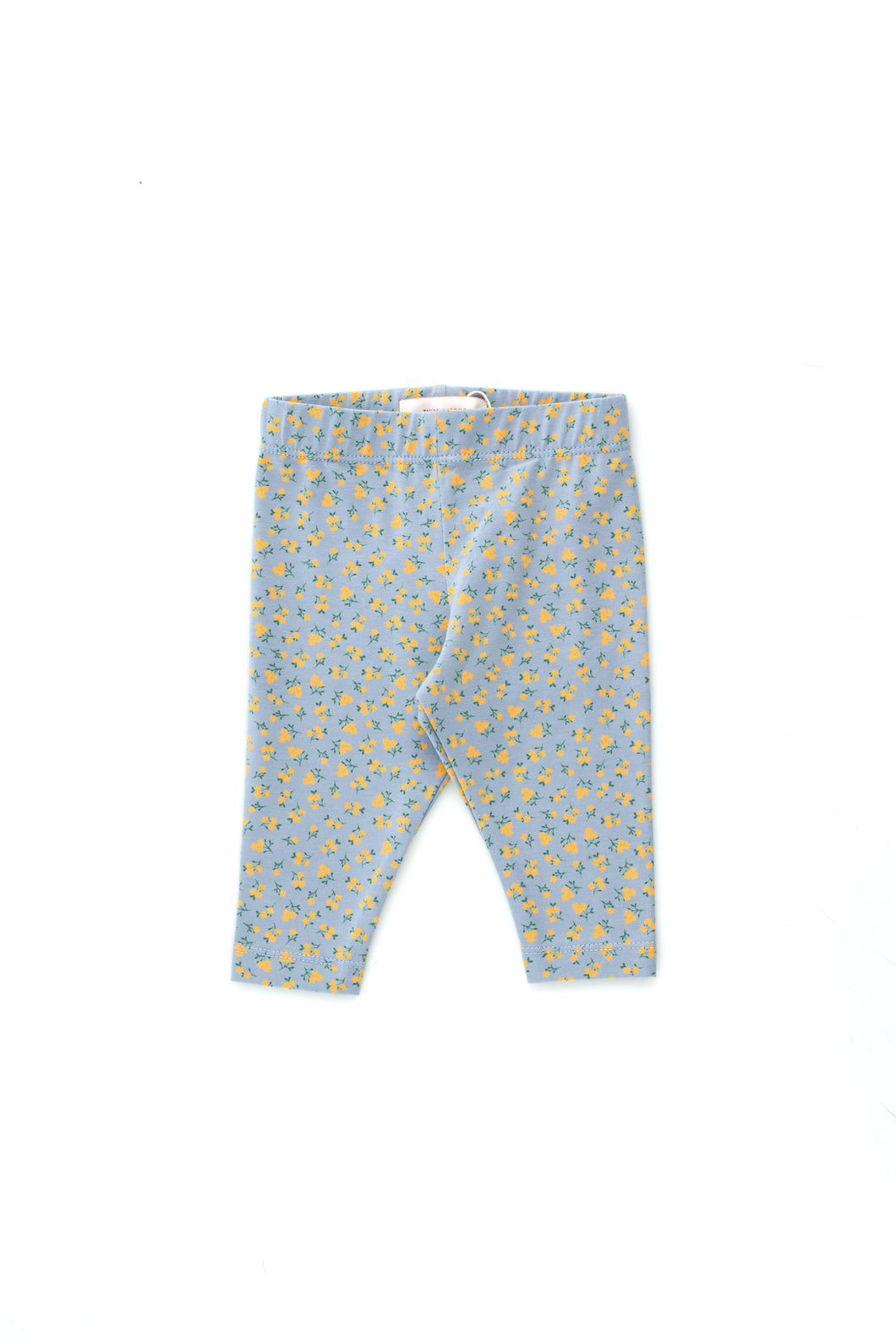 Tinycottons SMALL FLOWERS BABY PANT summer grey/honey