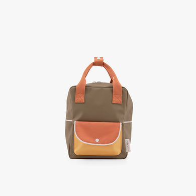 Sticky Lemon Small Backpack Wanderer Seventies green+faded orange