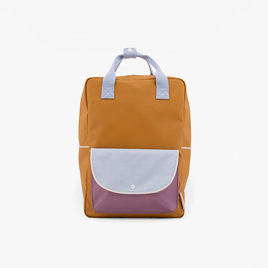 Sticky Lemon Large Backpack Wanderer Caramel fudge+sky blue