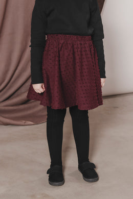 AARRE Skirt, Burgundy dots