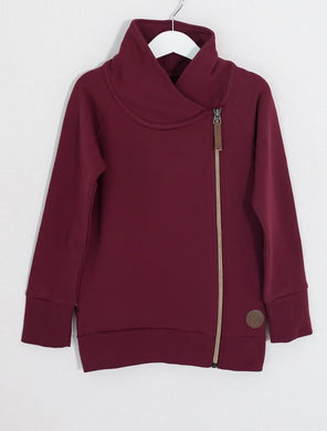 Blaa Zipper College Jacket, Chocolate Truffle