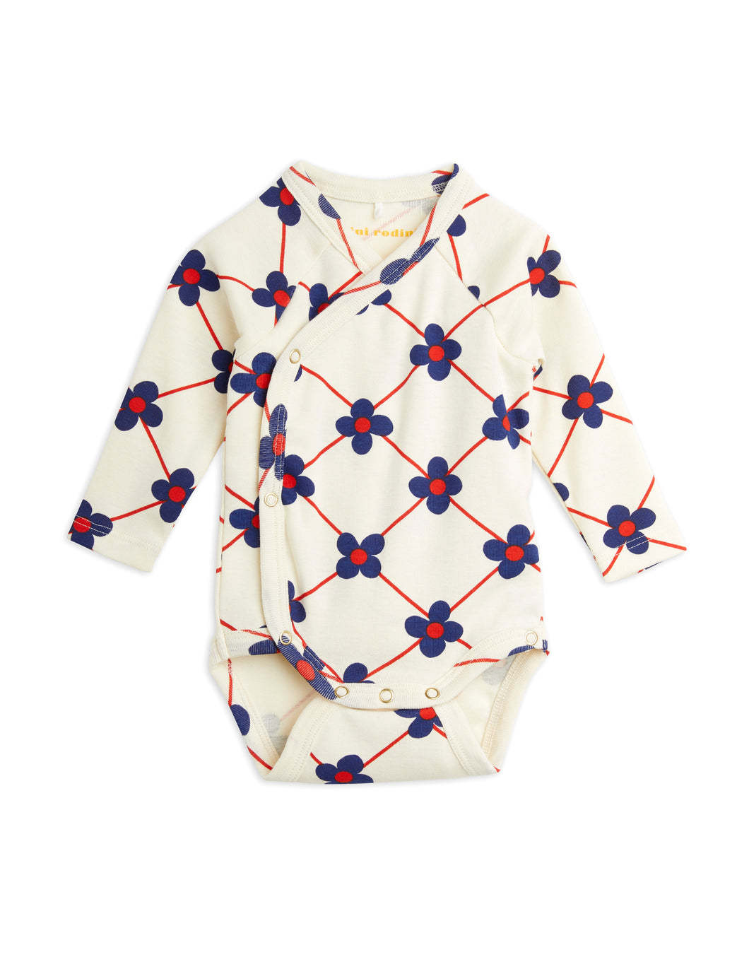 Mini Rodini Flower Check Wrap Body