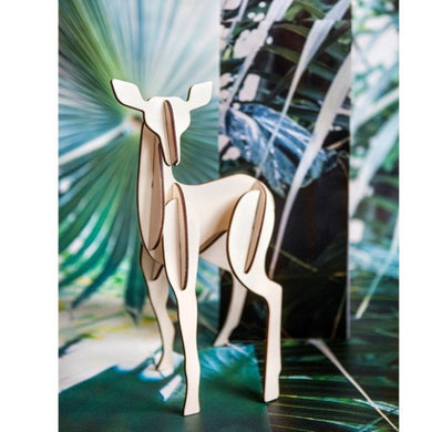 Studio Roof Wooden Totem Fawn